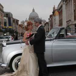 Wedding in front of the vatican